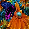 Elegant butterfly puzzle
